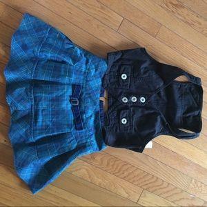 School girl skirt medium 7/8 and vest size small