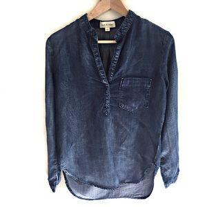 Cloth & Stone Chambray Tunic Top Size XS