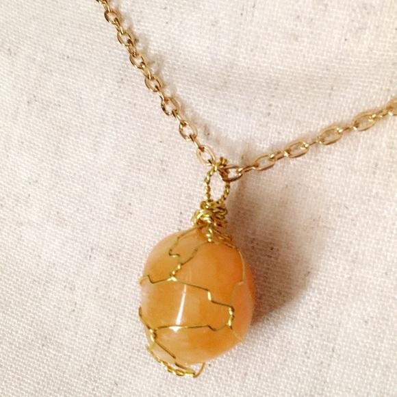 Orange Calcite Crystal Pendant
