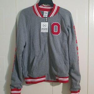 PINK bomber jacket Ohio State