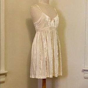 Vintage KENAR Crushed Velvet Babydoll Slip Dress