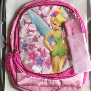 """Tinkerbell 18"""" backpack with pencil case"""