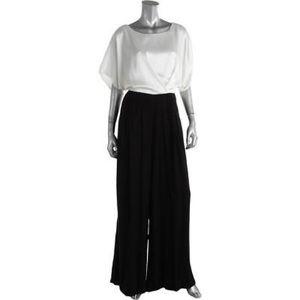 ABS by Allen Schwartz short sleeve dressy jumpsuit