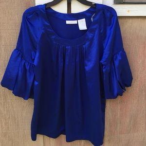 Worthington balloon sleeve blouse
