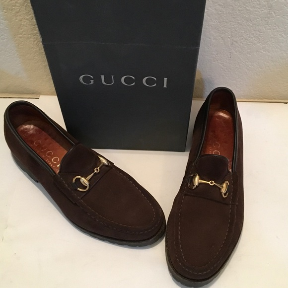 5f4679919 Gucci Other - GUCCI MENS Brown SUEDE Horsebit LOAFER RUBBER SOLE