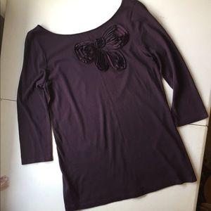 Ann Taylor LOFT embellished blouse