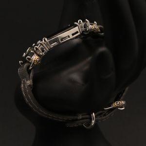 henri bendel Jewelry - RARE henri bendel Leather Deco Strap Bracelet HTF