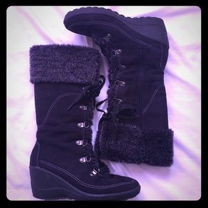 Warm Winter Wedge Boots