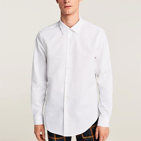 white shirt zara man