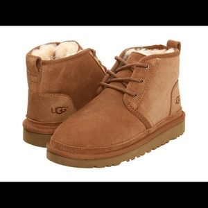 Kids Ugg Neumel Lace Up Tan Boots