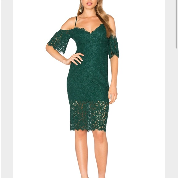 Bardot Dresses & Skirts - Bardot lace green dress new with tags