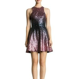 Sequin Dark blue and Muave Dress