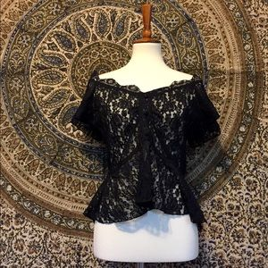 Tops - 90's lace blouse