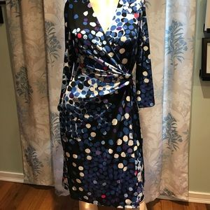 Anne Klein new mid length 3/4 sleeve print dress