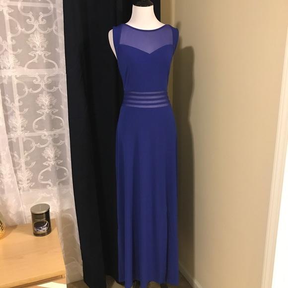 ed2383e1c203f Candalite Dresses | Nwt Gorgeous Blue Illusion Dress By | Poshmark