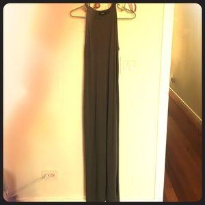 Theory Sonaki maxi dress, size small, dark moss