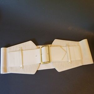 bebe wide elastic belt