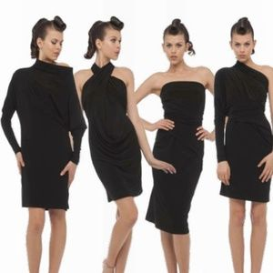 Dresses & Skirts - All In One Convertible Long Sleeve Dress- Black
