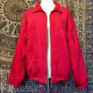 Jackets & Blazers - Vintage Red silk jacket