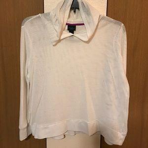 Like new White Mesh Sweater