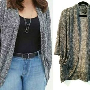 Forever 21+ XL Marled Knit Cardigan with Pockets