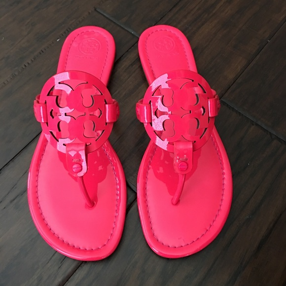 2fb953e1d696ae New Tory Burch Miller Fluorescent Fuchsia sandals
