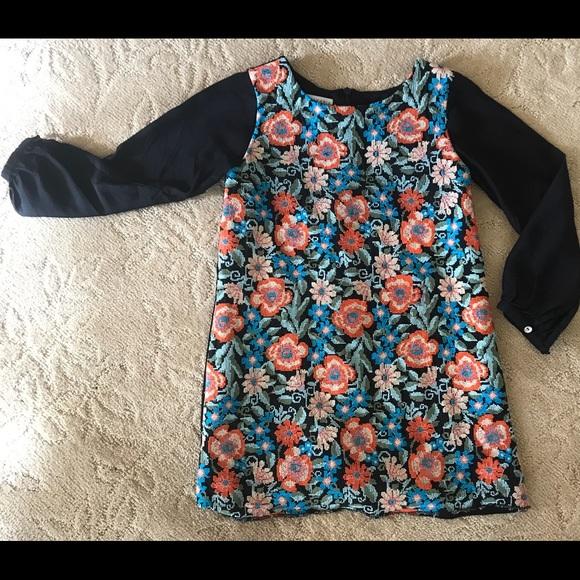 d10ba06e5 Neiman Marcus Dresses | Embroidered Dress Neimen Marcus Saks 5th ...
