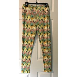 LuLaRoe TC Leggings Paint brush strokes Easter