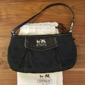 Small Black Coach Purse with Dustbag