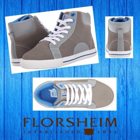 85ed5da70d48 Florsheim Kids 13 M Gray High Top Sneakers Shoes