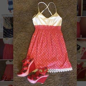 Roxy red & white mini dress