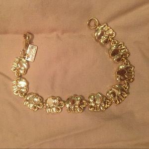 Lilly Pulitzer gold elephant bracelet