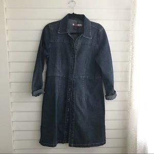 90's Denim Front Button Dress