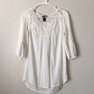 H&M White Bell Sleeved Tunic