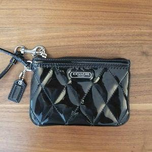 Black Patent Leather Coach Wristlet