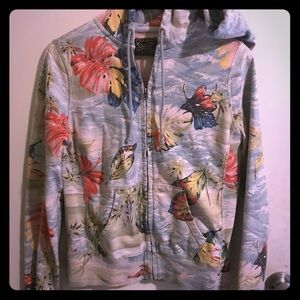 Lucky brand Floral Sweater Hoodie