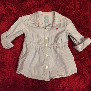 3/4 sleeve button down Baby Gap shirt