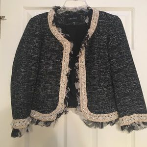 Beautiful beaded black blazer