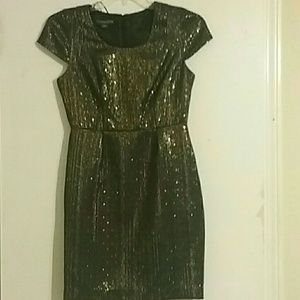 Covington NWOT Black and Gold Fully Lined Dress