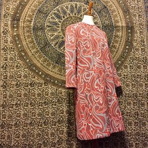 Dresses & Skirts - Vintage red and gray paisley dress