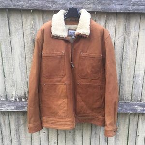 Cognac Shearling Leather jacket