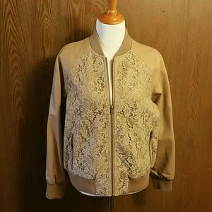 Simply Be Lace Bomber Jacket Size 14 NWT