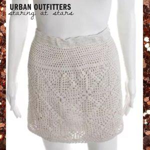 STARING @ STARS (UO) Wht Open Knit Crochet Skirt