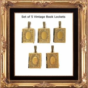 Set of 5 Vintage Book Lockets - A La Carte