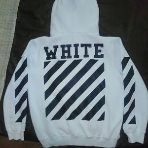 Off-White Sweaters - OFF-White co VIRGIL ABLOH Classic Stripe Hoodie