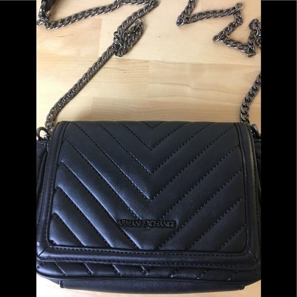 b171638f0f4 A X Armani Exchange Handbags - Armani Exchange Quilted Chain Strap  Crossbody Bag