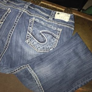Silver brand. Suki Straight. Size 18 or 36/32