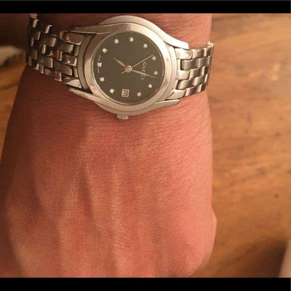 e761c56d918 Gucci Accessories - GUCCI 5500L LADIES WATCH WITH DIAMOND HOUR MARKERS