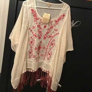 NWT. One World brand. Festival blouse.