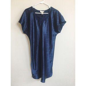 Vintage Blue Short Sleeve Nightie